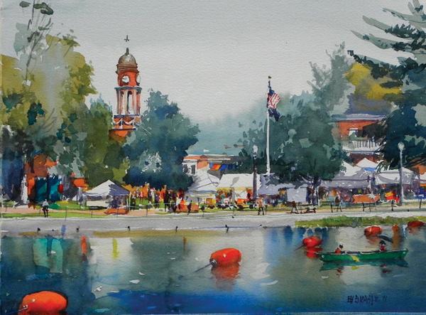 600x443 Plein Air Watercolor Landscapes By Stewart White