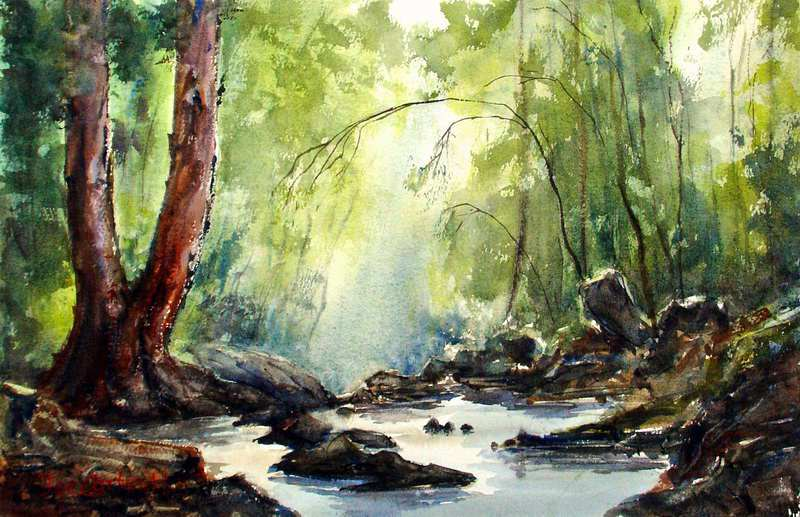 800x517 Watercolor Paintings Landscape Gallery