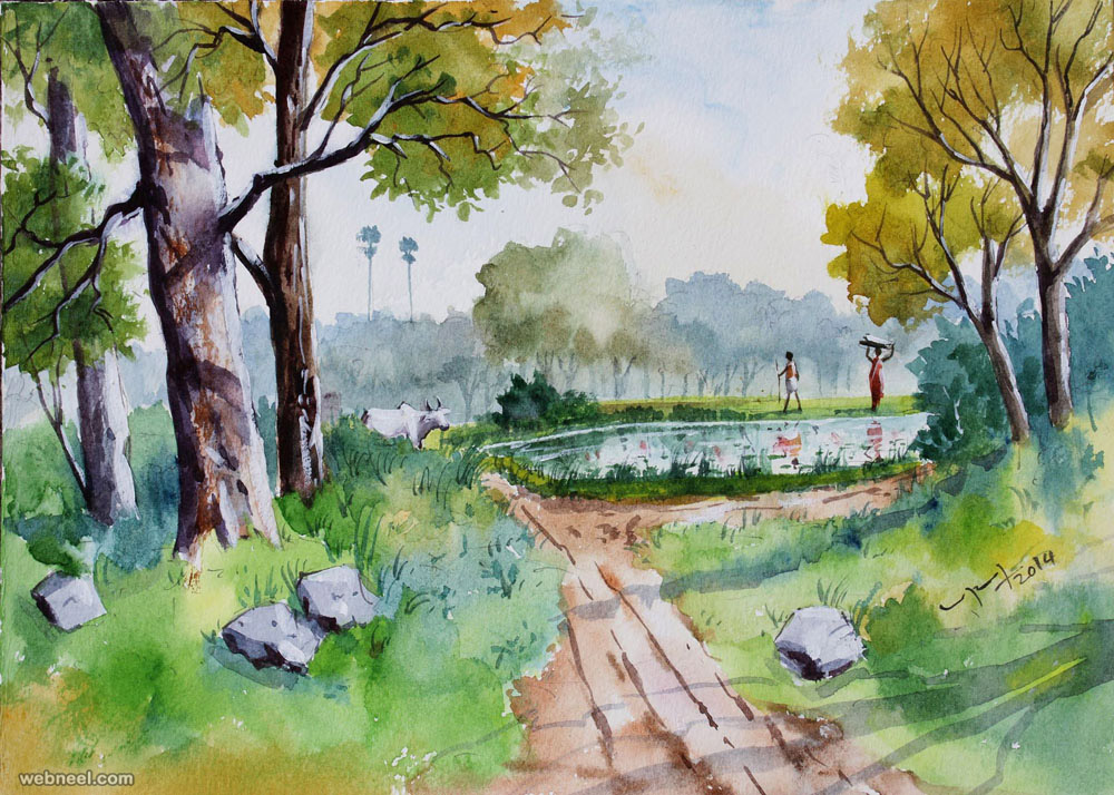 1000x714 25 Beautiful Watercolor Paintings By Tanjore Artist Subbaiyan