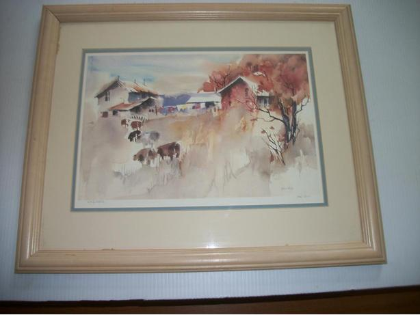 614x461 Large Watercolor Limited Edition Print By Kai Riis East Regina, Regina