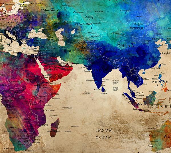 600x538 Large World Map Wall Art Poster, World Map Wall Art,world Map Push