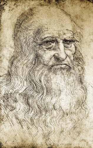 Leonardo Da Vinci Watercolor