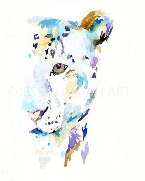 570x712 Leopard Watercolor Poster, Animal Watercolor, Big Cat Poster