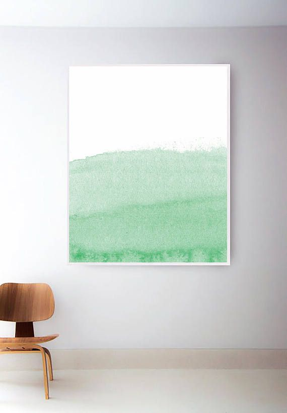 570x819 Light Green Print. Printable Green Watercolor Prints. Green Wall