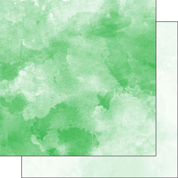 600x600 Scrapbook Customs Green And Light Green Watercolor Paper