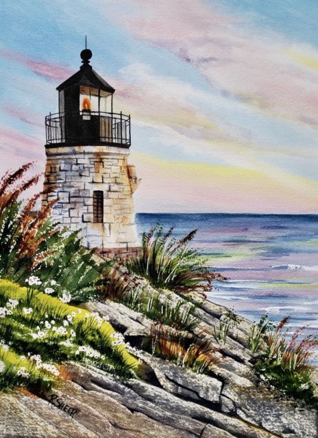 Lighthouse Watercolor Paintings at GetDrawings com   Free