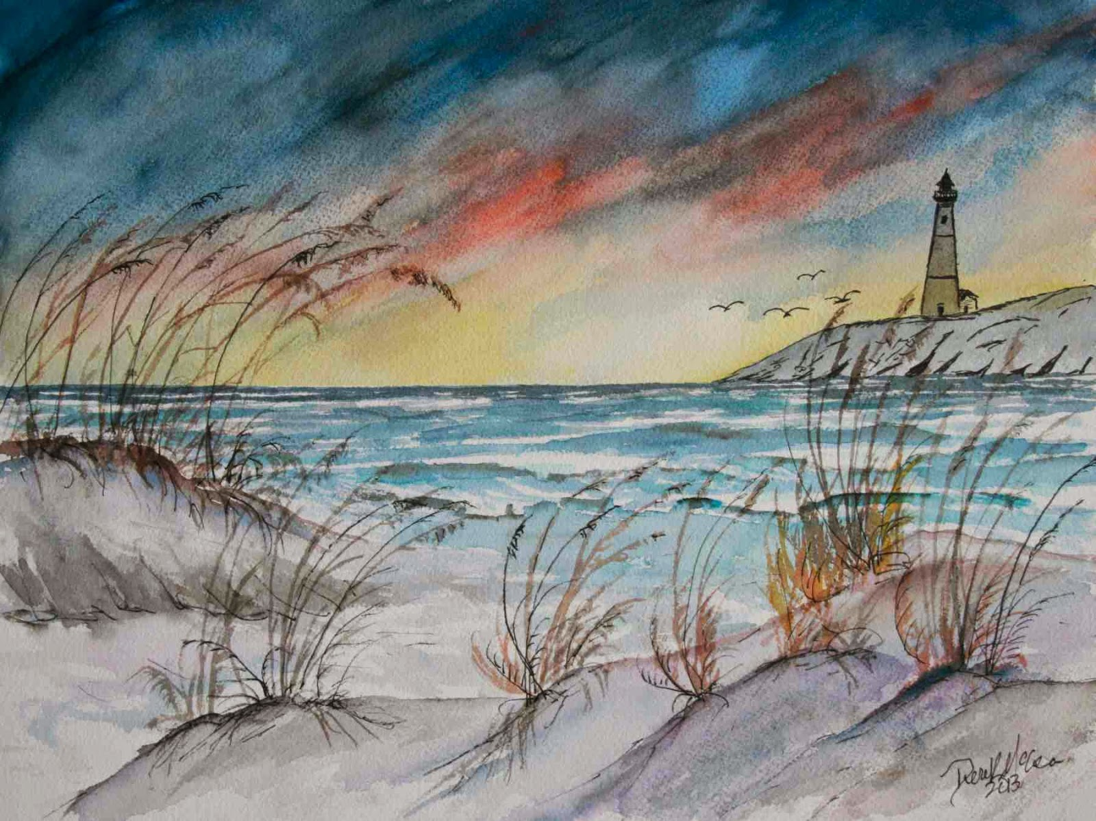 1600x1199 Lighthouse Watercolor Paintings Watercolor Paintings And Art Prints
