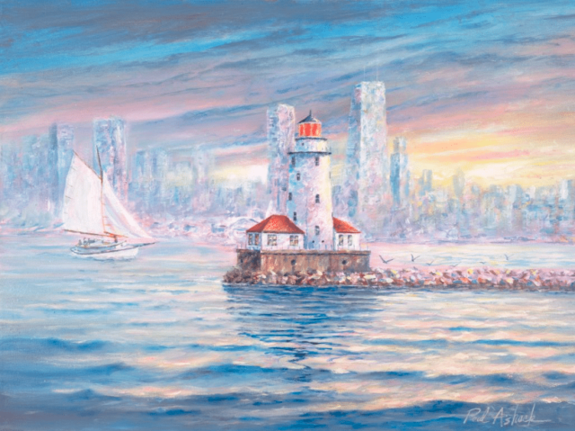 640x479 Chicago Lighthouse Watercolor Print Amp Paintings