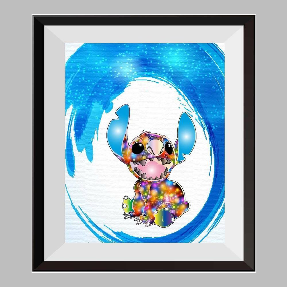 1000x1000 Lilo And Stitch Ohana Stitch Tattoo Watercolor Print Nursery Decor