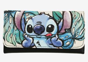 5eca454994c1 300x214 Loungefly Disney Lilo Amp Stitch Watercolor Trifold Flap Wallet
