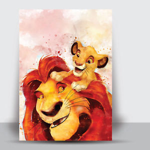 300x300 The Lion King Framed Art Print Watercolour Wall Picture Poster