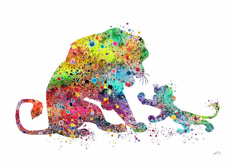 900x636 The Lion King Mufasa And Simba Watercolor Art Print Digital Art By