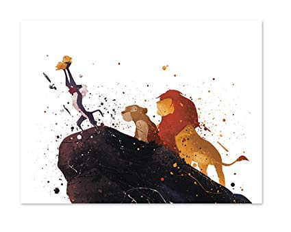425x339 Pgbureau The Lion King Inspired Watercolor Art Print