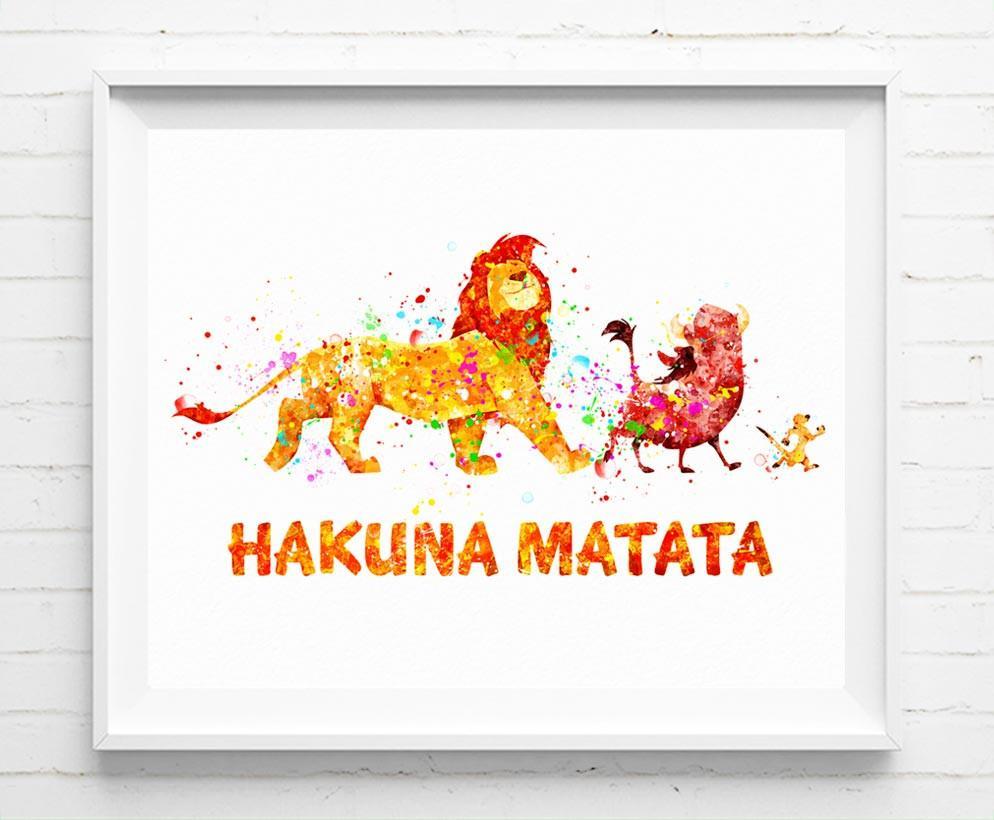 994x820 Disney Lion King Poster Simba Timon And Pumbaa Hakuna Matata Art