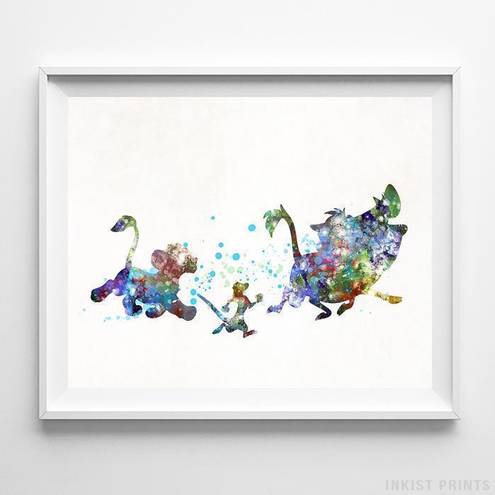 699x699 Hakuna Matata The Lion King Wall Art Disney Watercolor Poster