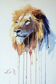 236x354 19 Best Watercolor Lion Images In 2018 Watercolor