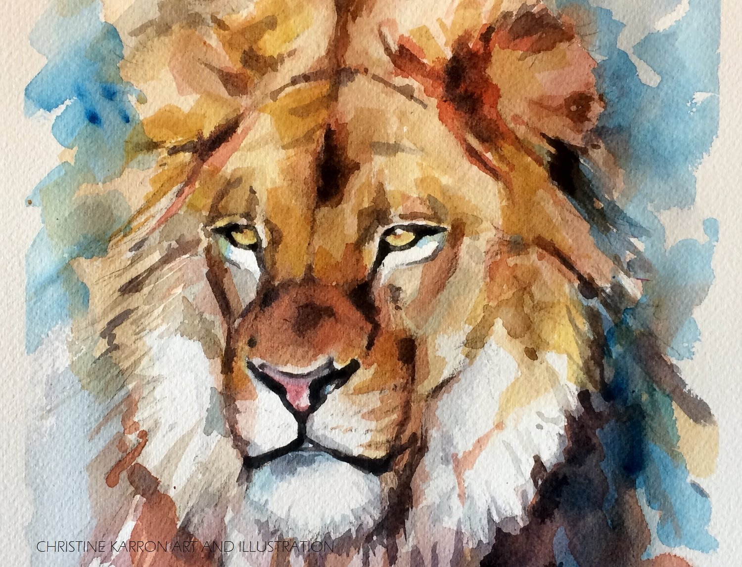 1500x1148 Watercolor Speed Painting Lion Portrait By Ch.karron