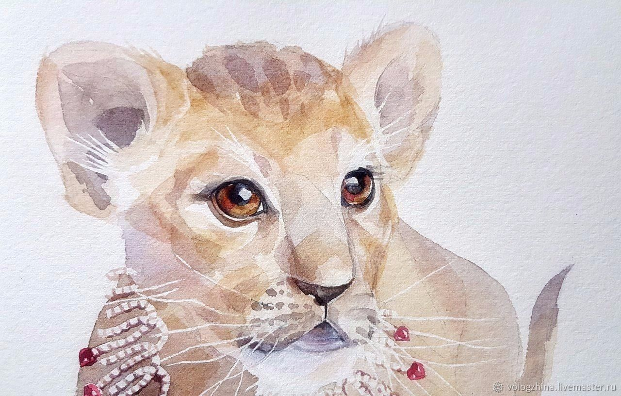 1280x816 Watercolour, Lion Shop Online On Livemaster With Shipping