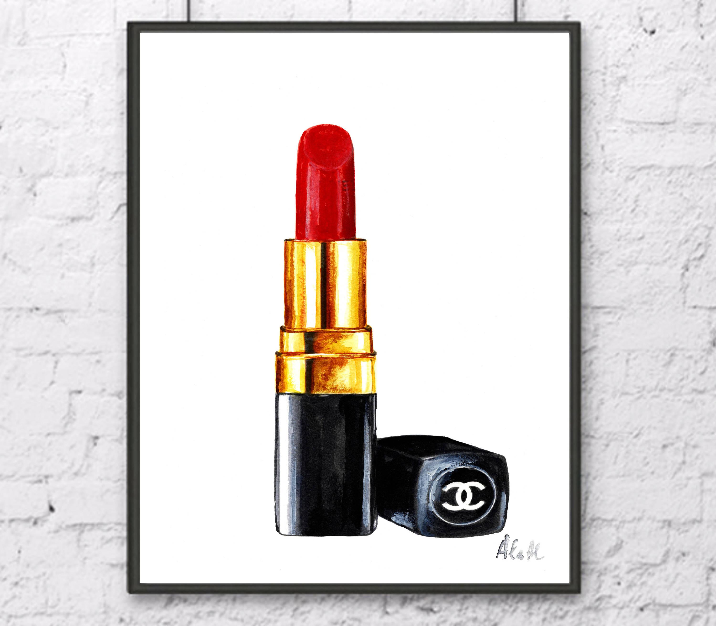 Coco Chanel Lippenstift : lipstick watercolor at free for personal ~ Watch28wear.com Haus und Dekorationen