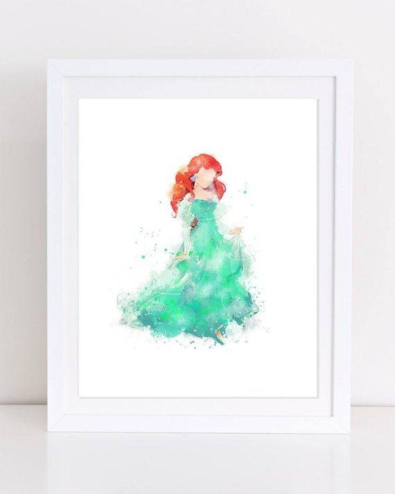 Little Mermaid Watercolor