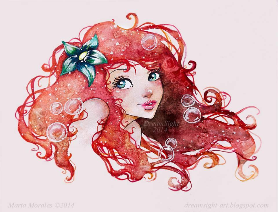 960x732 Little Mermaid Watercolour 2014 Check The Process