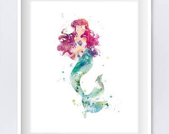 340x270 Little Mermaid Print Etsy