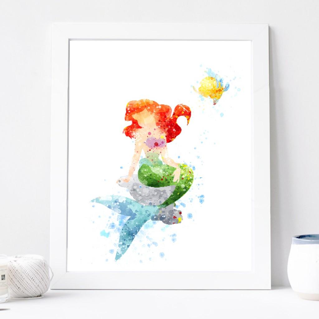 1024x1024 Princess Ariel Poster