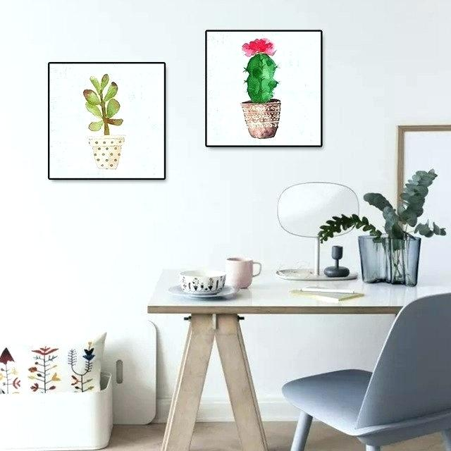 640x640 Wall Poster For Living Room Cactus Themed Room Watercolor Plants