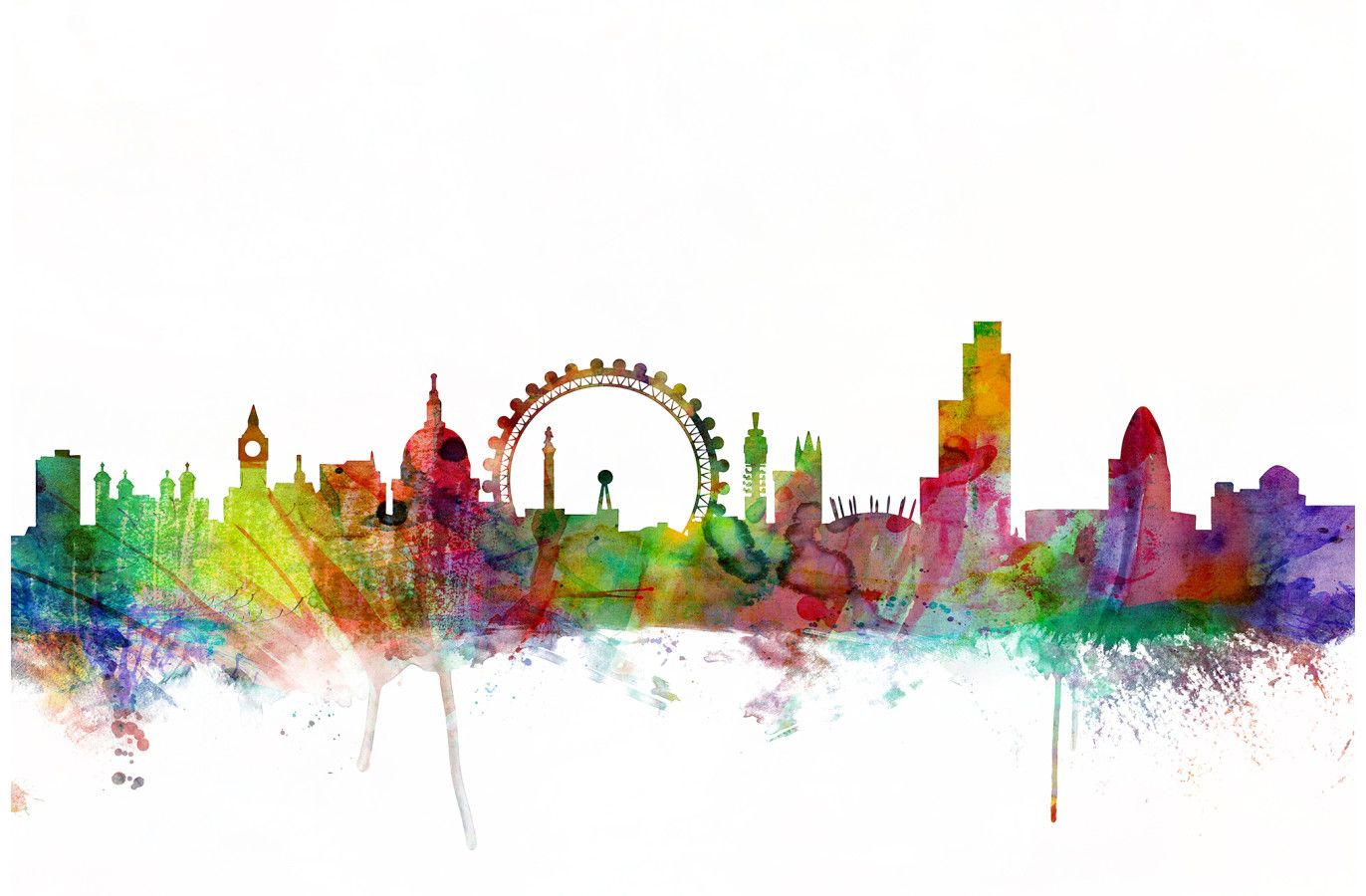 1372x900 London Skyline By Artpause