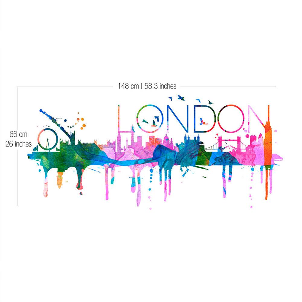 1000x1000 London Skyline Watercolor