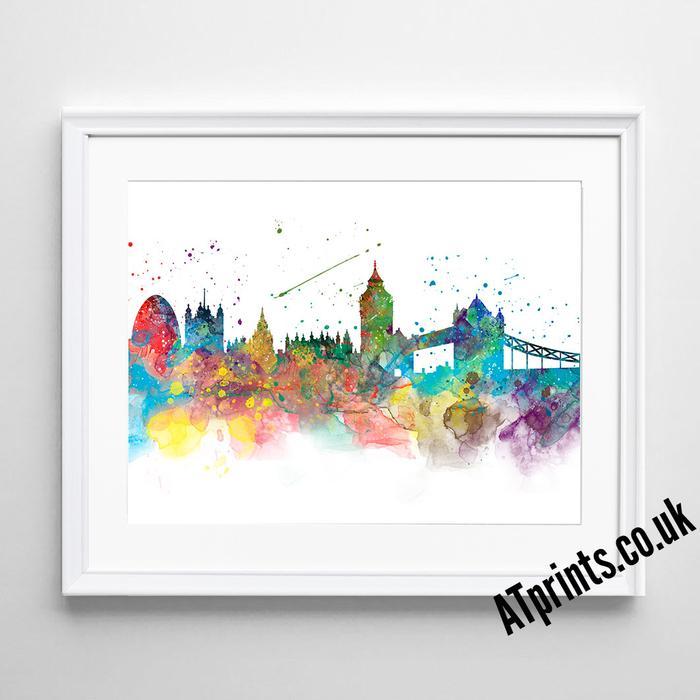 700x700 London Skyline Watercolour Art Print Atprints