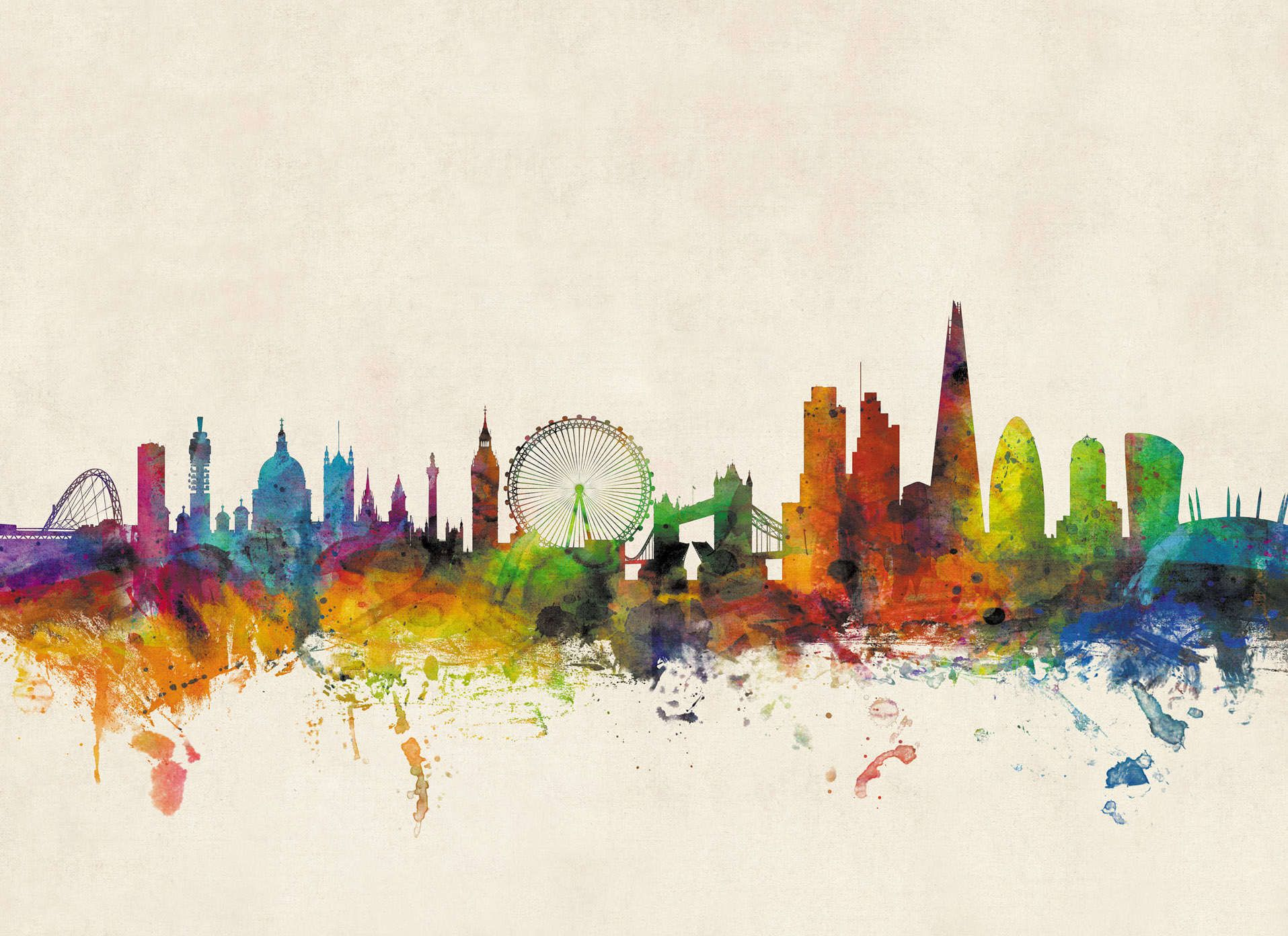 1915x1392 London City Skyline