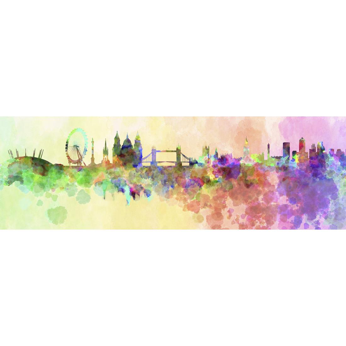 1100x1100 London Skyline, Watercolour (Long)