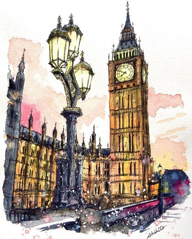 London Watercolor