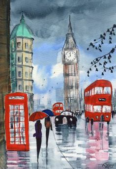 London Watercolor Paintings