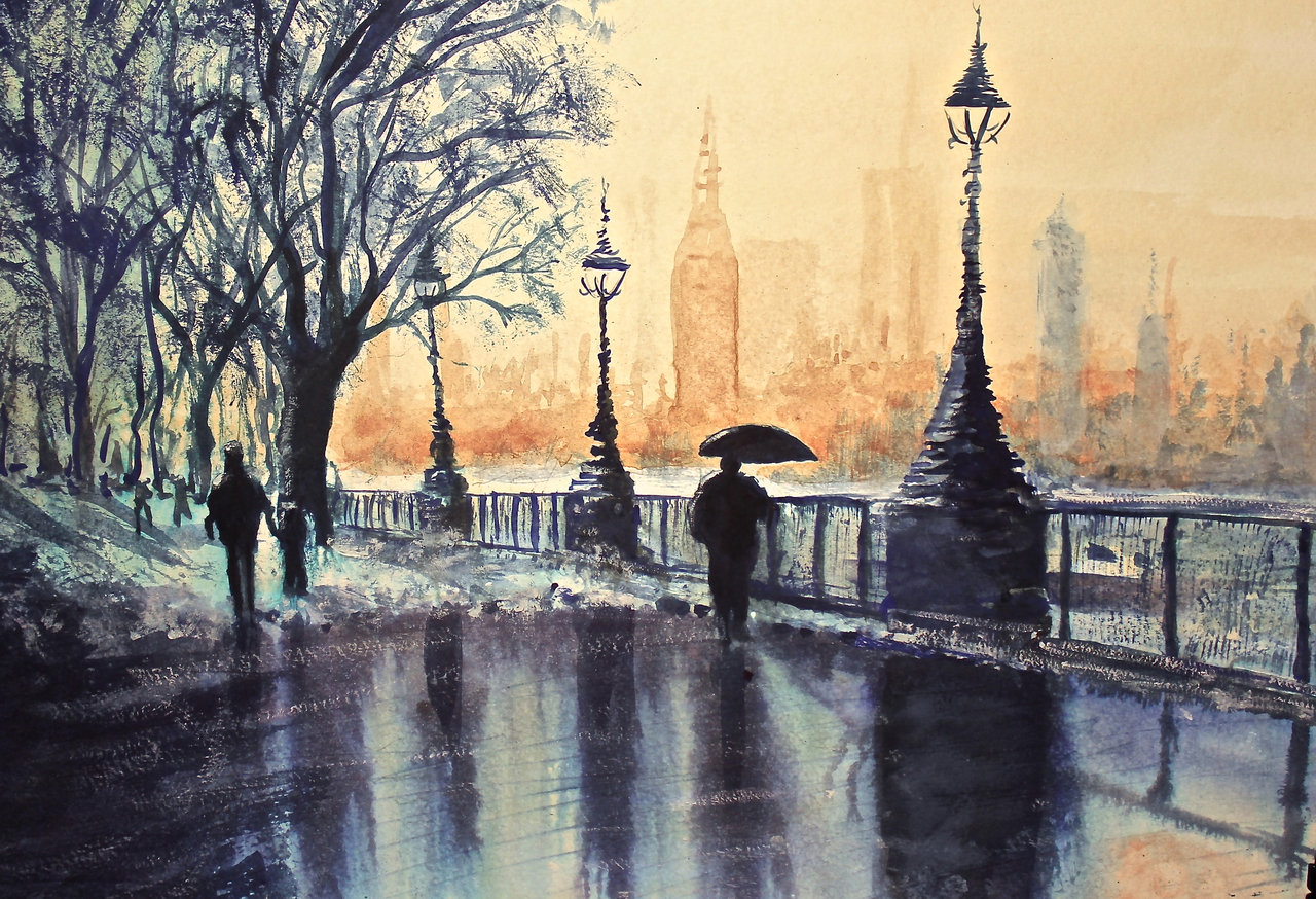 london watercolor paintings at getdrawings com free for personal