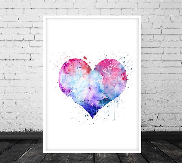 600x537 Heart Wall Art, Heart Poster, Heart Print Heart Art Poster, Love