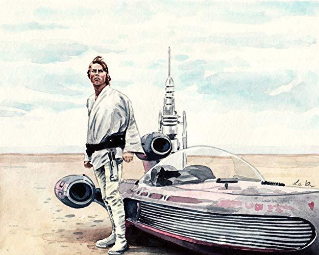 625x500 Star Wars Art Luke Skywalker Art Star Wars Painting