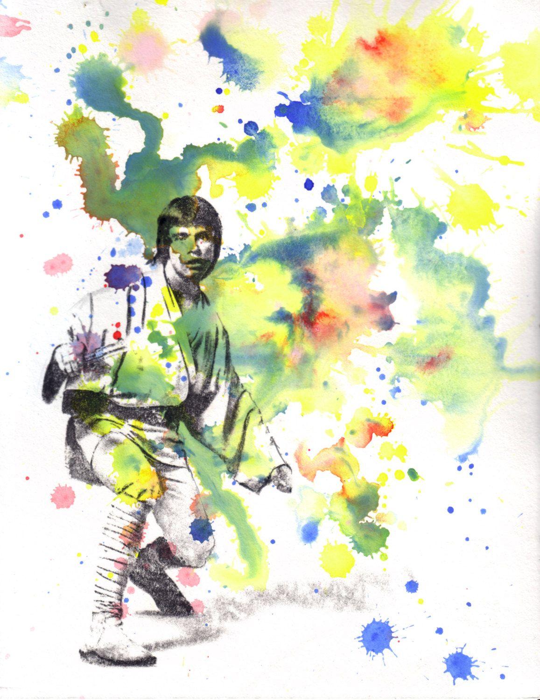 Han Solo /& Princess Leia Star Wars Watercolor Print Geek Art I Love You I Know