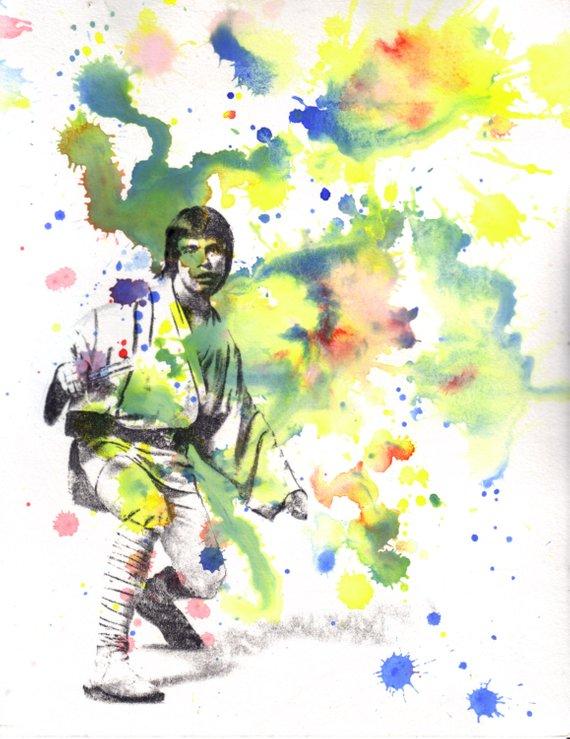 570x739 Star Wars Poster Print Of Luke Skywalker Star Wars Art Print