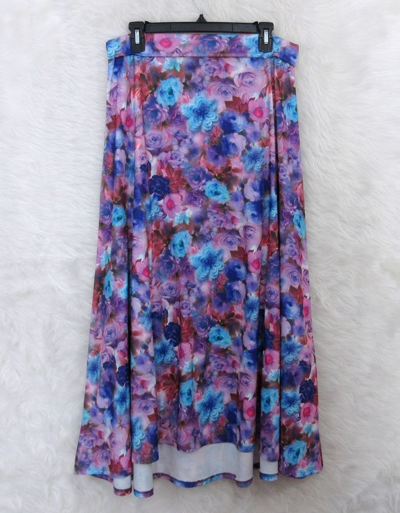 779x1000 New Lularoe Watercolor Blooming Roses Purple Spring Easter Maxi