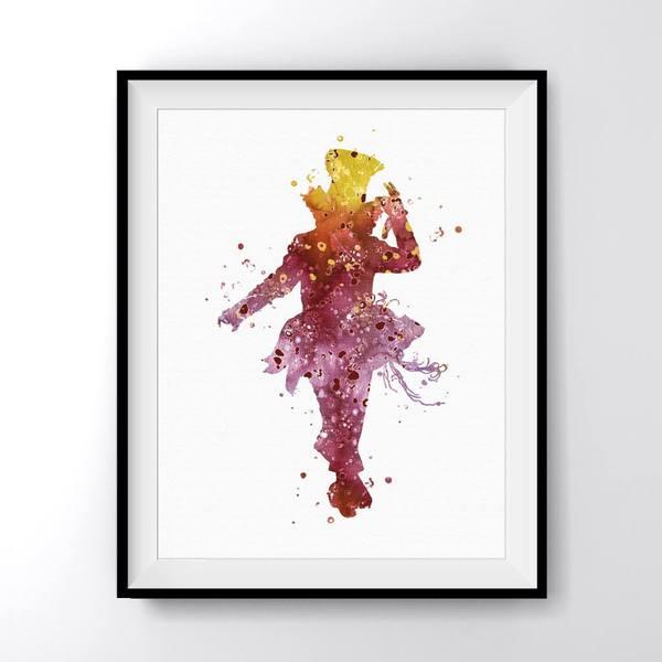 600x600 Alice In Wonderland Mad Hatter 1 Art Print Poster