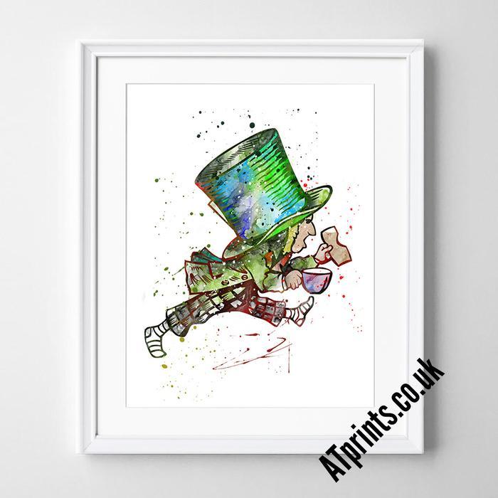 700x700 Alice In Wonderland Watercolour Art Print