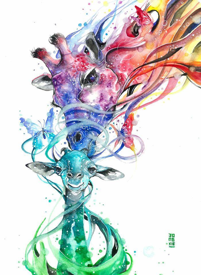 700x958 Magic And Positive Watercolors By Luqman Reza