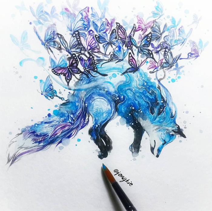 700x698 Magic And Positive Watercolors By Luqman Reza
