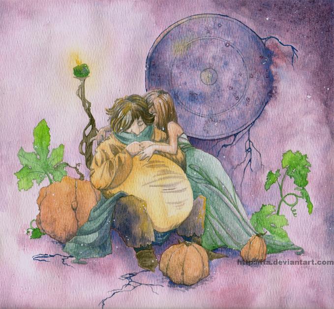 679x628 Pumpkin Magic Watercolor By Ffa