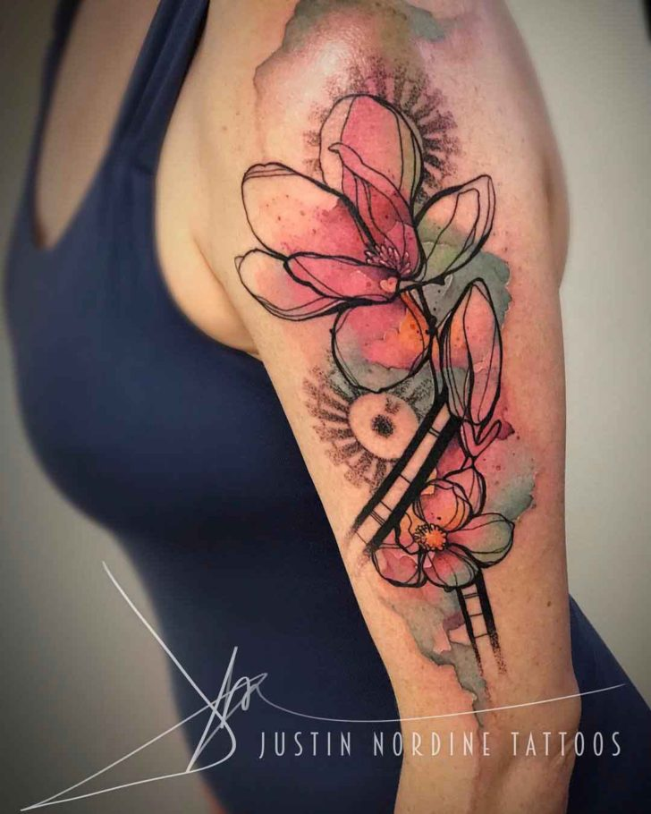 Magnolia Watercolor Tattoo At Getdrawingscom Free For Personal