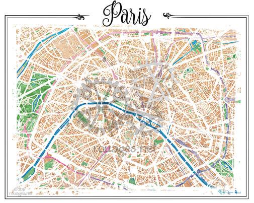 Map Of Watercolor