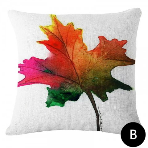 480x480 Colorful Maple Leaf Throw Pillows For Living Room Watercolor