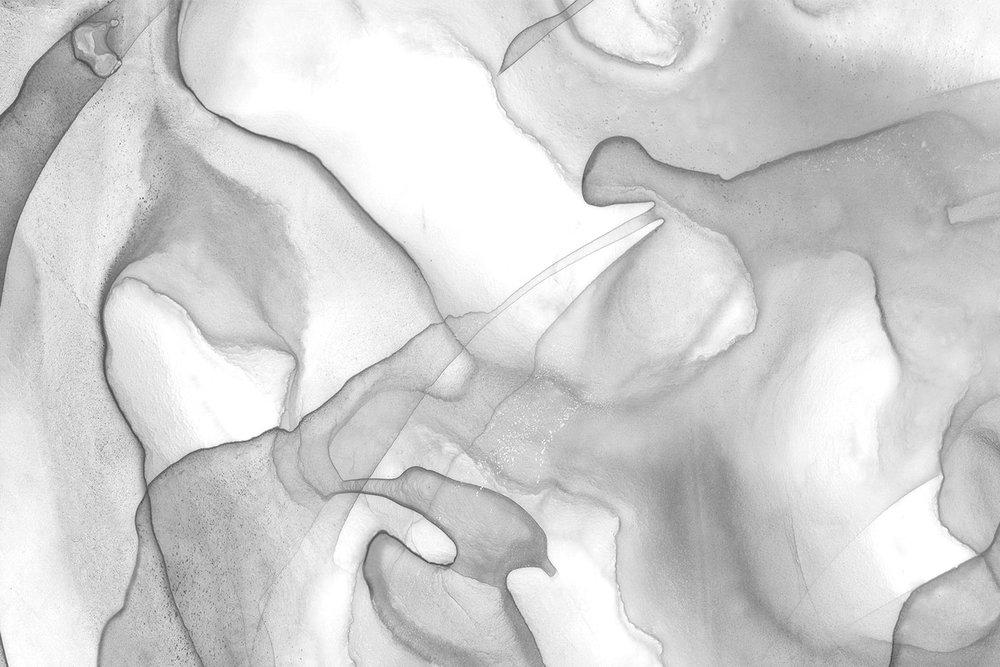 1000x667 Gray Marble A Watercolor Fine Art Print Black Crow Studios